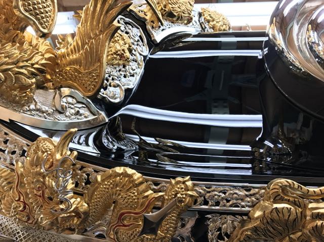大塩天満宮 北脇屋台<br/>屋根(左右面)漆塗り替え02