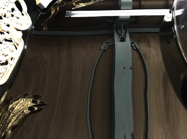 大塩天満宮 北脇屋台<br/>屋根(左右面)漆塗り替え03